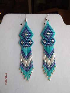 Native American Turquoise Purple and Silver by BeadedCreationsetc, $25.00