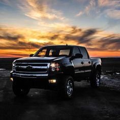 A #Silverado and a #sunset which do you like better?