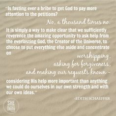 fasting as intercedi