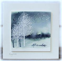 Less is More (Rapport från ett skrivbord) Christmas Cards 2018, Noel Christmas, Xmas Cards, Handmade Christmas, Holiday Cards, Penny Black Karten, Penny Black Cards, Stampin Up Karten, Winter Karten