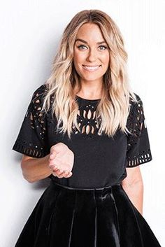 Lauren Conrad wearing Lc Lauren Conrad Runway Collection Pleated Velvet Skirt and Sea Black Cut Out Detail Top Long Face Hairstyles, Trendy Hairstyles, Hair Inspo, Hair Inspiration, Velvet Pleated Skirt, Lauren Conrad Style, Up Girl, Star Fashion, Her Hair