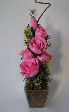 Arranjo de Flores em Eva - Rosas