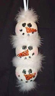 smoothfoam snowmen ornament