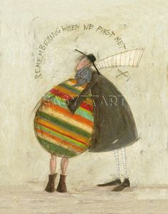 Remembering When We First Met, print by Sam Toft