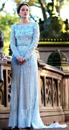 GG finale: Blair's Elie Saab wedding dress.