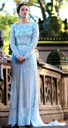 GG finale: Blair's Elie Saab wedding dress.