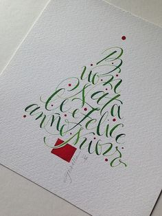 IMG_2518 | Gisella Biondani | Flickr Calligraphy Fonts Alphabet, Calligraphy Drawing, Copperplate Calligraphy, Modern Calligraphy, Christmas Fonts, Christmas Art, Calligraphy Christmas, Christmas Postcards, Paper Art
