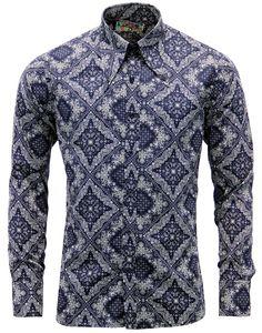 Brand: Madcap England. Key Points: Madcap England 'Capo' monotone bandana paisley print spear colla
