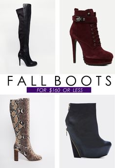 Looking for stylish boots to wear this fall without breaking the bank? Check out these fall boots we love for under $160! | http://xon.ec/1hXqW00
