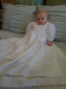 boys bearissima swiss batiste christening gown with tatting. made byPatti Walsh Frocks And Gowns, Baby Gown, Christening Gowns, Heirloom Sewing, First Communion, Smocking, Tatting, Flower Girl Dresses, Wedding Dresses