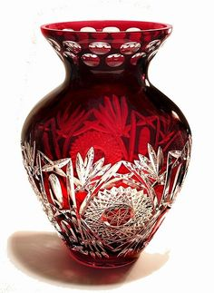 : Vases from Poland Crystal Glassware, Crystal Vase, Crystal Gifts, Vase Cristal, Glass End Tables, Antique Perfume Bottles, Glass Ceramic, Vases Decor, Colored Glass