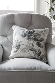 Gosford Charcoal from the Laura Ashley Australia cushion collection