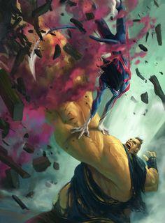 Nightcrawler vs The Blob -  by Fred Rambaud