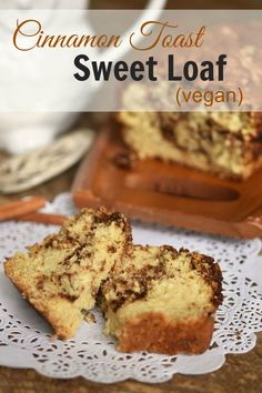 Cinnamon Toast Sweet Loaf - a fluffy and delish vegan snack bread that pays tribute to both cinnamon toast and cinnamon rolls.
