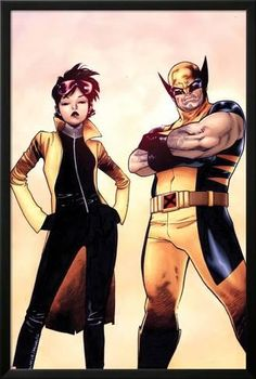 Lamina Framed Poster: Wolverine and Jubilee No.1 Cover by Olivier Coipel : 38x26in