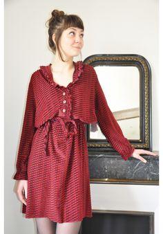 Robe vintage 70's esprit bohémien. www.bluemadone.com #vintage #bohemian #dress #gypsie #hippie #boho