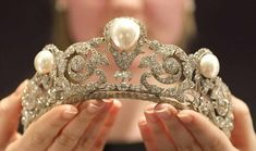 I'm including the Murat pearl tiara here partly because it's stylistically belle epoque and as it was made in 1920, is very close in terms of years. The three large pearls that feature in it had been in the Murat family for years when they were incorporated into a diamond tiara by Chaumet for the wedding of Prince Alexandre Murat to Yvonne Gillois.