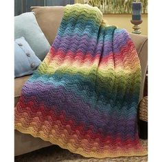 Gradient afghans always warm up any room they're in
