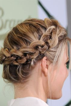 Perfect Dutch Crown Braid.