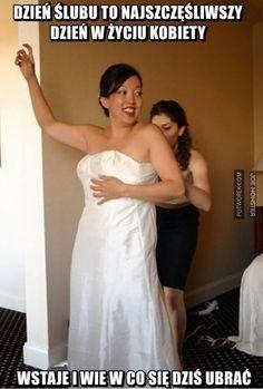 ZAGIĄŁ SZNUKA... | 🥇 Potworek.com - dowcipy, kawały, śmieszne filmiki Very Funny Memes, The Funny, Best Memes, One Shoulder Wedding Dress, Jokes, Entertaining, Humor, Tv, Wedding