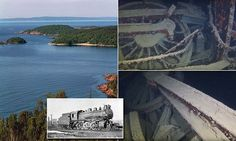 Divers find a century-old STEAM TRAIN at the bottom of Lake Superior