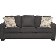 Alenya-Charcoal Queen Sofa Sleeper - Sofa Sleepers - Living Room Furniture - Products