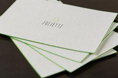 Birth Announcement Card JULIETTE - Design by Sebastian Smulders - www.seesaw.be - Printed by www.letterpressgust.be