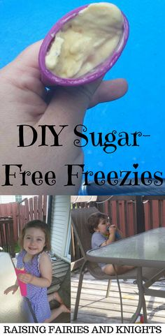 DIY Sugar-Free Freezies - A delicious treat to enjoy on a hot day with your kids. Healthy frozen treat with no added sugar.