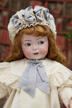 """24"""" (61 cm) Rare Antique German 616 Simon & Halbig Character doll with flirty eyes, antique costume!"""