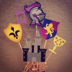 Midevil centerpiece for a school function. :)  #cricutexplore #knights #castle #schoolspirit