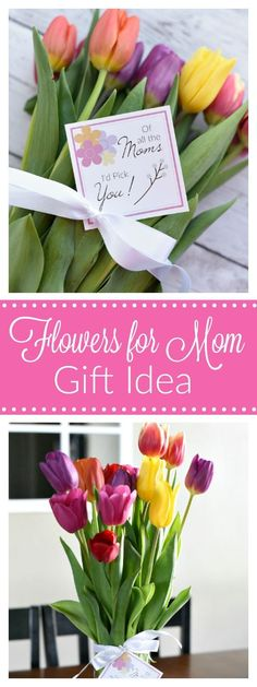 Mother's Day Gift Idea-Flowers for Mom – Fun-Squared Source by JaxonsJewelers Mothers Day Decor, Great Mothers Day Gifts, Mothers Day Crafts, Gifts For Mom, Top Gifts, Easy Gifts, Creative Gifts, Flowers For Mom, Mothers Day Flowers