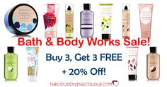 HOT HOT HOT DEAL at Bath & Body Works! Buy 3 Get 3 FREE on Signature Collection Body Care + 20% off! Only $5.00 each (reg $12+)  Click the link below to get all of the details ► http://www.thecouponingcouple.com/bath-n-body-works-sale/ #Coupons #Couponing #CouponCommunity  Visit us at http://www.thecouponingcouple.com for more great posts!