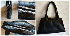 Sac City Zip-Zip cousu par Anita - Patron couture Sacôtin - simili noir