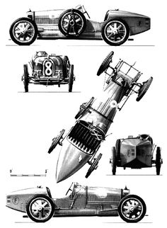 Bugatti Type 35 templates views