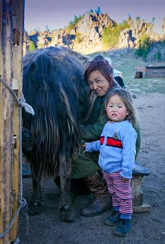 """Once upon a time in Mongolia... """"Children are the living messages we send to a time we will not see."""" ~Neil Postman  Mongolia ~Nige Burton"""