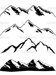 drawing of mountains - Google Search