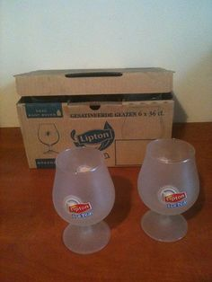 For Sale: Lipton glasses Six original glasses Lipton Ice Tea...