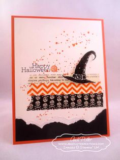 Andiu0027s Fun Card Uses Best Of Halloween, Gorgeous Grunge, Delightful Dozen,  U0026 Witchesu0027 Brew Washi Tape.