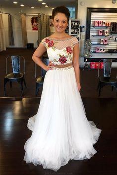 7ac95af58cc1 Prom Dresses Two Piece #PromDressesTwoPiece, Prom Dresses White  #PromDressesWhite, Prom Dresses Long #PromDressesLong, 2018 Prom Dresses  #2018PromDresses