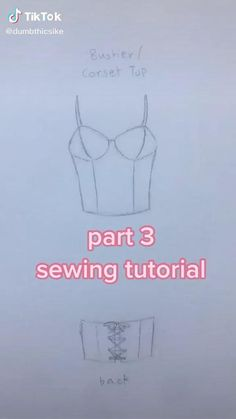 Clothes Crafts, Sewing Clothes, Sewing Tutorials, Sewing Patterns, Corset Sewing Pattern, Diy Clothes Design, Diy Fashion Hacks, Diy Clothes Refashion, Creation Couture