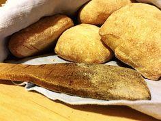 Freshly baked Ciabatta buns