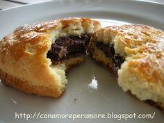 biscotti con rpieno di nutella pezzi
