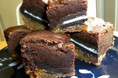 Oreo Stuffed Chocolate Chip Cookie Brownies:  http://www.csmonitor.com/The-Culture/Food/Stir-It-Up/2012/0228/Oreo-stuffed-chocolate-chip-cookie-brownies