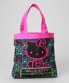 Take a look at this Black & Pink Hello Kitty Travel Tote by Loungefly on #zulily today!