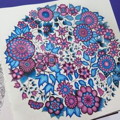 Take a peek at this great artwork on Johanna Basford's Colouring Gallery! Johanna Basford Books, Johanna Basford Coloring Book, Zentangle, Secret Garden Book, Johanna Basford Secret Garden, Secret Garden Coloring Book, Colouring Techniques, Colorful Garden, Coloring Book Pages