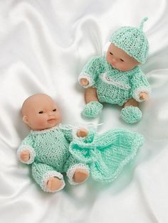 free crochet patterns for bitty baby doll clothes itty bitty knitties baby doll clothes hwb book 121056 Knitting Dolls Clothes, Crochet Doll Clothes, Knitted Dolls, Doll Clothes Patterns, Crochet Dolls, Doll Patterns, Crochet Patterns, Bitty Baby Clothes, Annie's Crochet