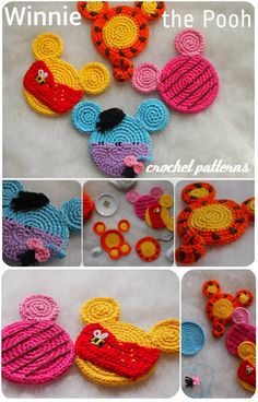 Tigger, Eeyore, Piglet and Winnie the Pooh ornaments crochet patterns. Toys Patterns winnie the pooh Winnie the Pooh Mouse crochet patterns Crochet Toys Patterns, Stuffed Toys Patterns, Knitting Patterns, Crochet Ideas, Crochet Gifts, Free Crochet, Knit Crochet, Crochet Motif, Winnie The Pooh