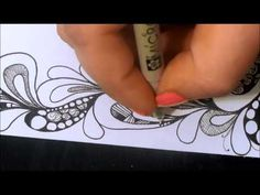 Blended Sharpie Tangle - YouTube