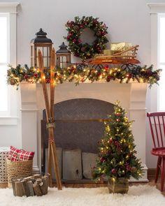 Belham Living 4 ft. Pomegranate Pine Pre-Lit Battery Operated Christmas Tree by Belham Living
