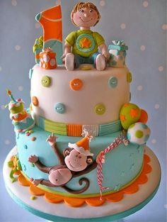 Tartas de cumpleaños - Birthday Cake - Little Monkey cake